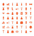 49 dress icons vector image vector image