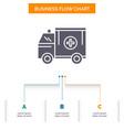ambulance truck medical help van business flow vector image vector image