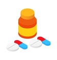 Bank tablets and pills vector image vector image