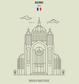 basilica of saint clotilde in reims vector image vector image