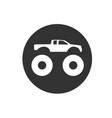 bigfoot truck logo vector image