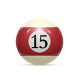 Billiard fifteen ball isolated on a white vector image vector image