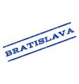 Bratislava Watermark Stamp vector image vector image