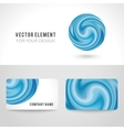 Business card template set abstract blue circle