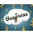 Business logo golden tie on dollar background vector image vector image