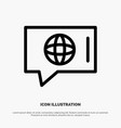 chat world technical service line icon vector image