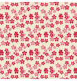 Cherry tree Flowers pattern vector image