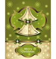 Christmas Tree from paper with bow ribbon snowflak vector image