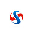 Circle letter s spin technology logo