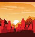 colorful background of landscape of city in the vector image