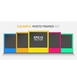 Colorful photo frame set vector image
