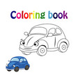 coloring book page for children with colorful ca vector image vector image