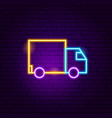delivery truck neon sign vector image