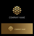 dot connect round gold company logo vector image vector image