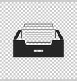 drawer with documents icon isolated vector image vector image