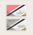 elegant business card with marble texture template vector image vector image