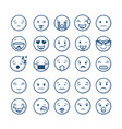 emoticons faces design vector image vector image