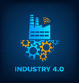 factory icon gears mechanism industry 40 concept vector image