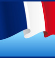 french flag wavy abstract background vector image vector image
