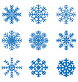 frosty snowflakes vector image vector image