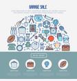 garage sale or flea market concept in half circle vector image vector image