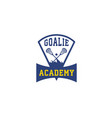 goalie-academy-logo vector image