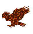 harpy pattern silhouette ancient mythology fantasy vector image