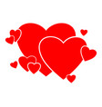 heart consisting hearts to vector image vector image