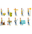 indian builder set vector image