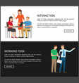 interaction and working task vector image vector image