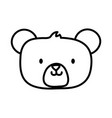 kids toy cute teddy bear head icon thick line vector image