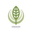 landscape- logo template concept vector image