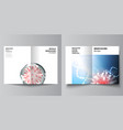 layout two a4 cover mockups templates vector image vector image