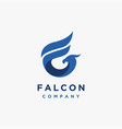 letter f for falcon logo icon template vector image vector image