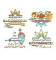 line logo icons set for krishna janmashtami vector image vector image