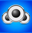 loudspeaker speaker music or audio image vector image vector image