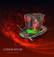 Magician Top Hat with magic particles vector image vector image