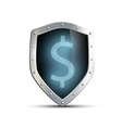 metal shield with the image of dollar isolated on vector image vector image