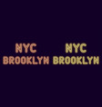 neon inscription of new york city brooklyn vector image vector image