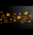 orange luminous bokeh lights particles background vector image vector image