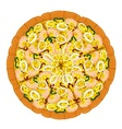 Pizza Seafood Slices vector image