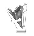 playing the harp stringed musical instrument vector image