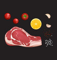raw marbled meat fillet portion to cook vector image