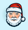santa claus in the hat christmas or new year vector image vector image