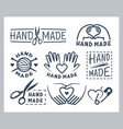 set handmade badges labels icons and logo vector image