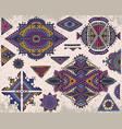 set of tribal art boho hand drawn geometric vector image vector image