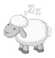 sheep icon monochrome vector image