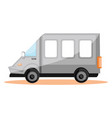simple of white transport van on white background vector image vector image