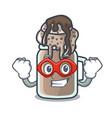 super hero milkshake character cartoon style vector image vector image