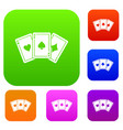 three aces playing cards set collection vector image vector image